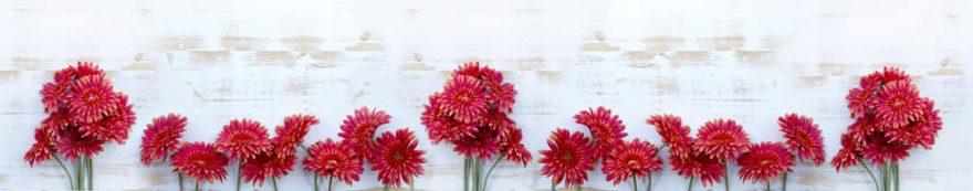 Изображение для стеклянного кухонного фартука, скинали: цветы, герберы, fartux1574
