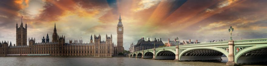 Изображение для стеклянного кухонного фартука, скинали: город, мост, архитектура, лондон, fartux1578
