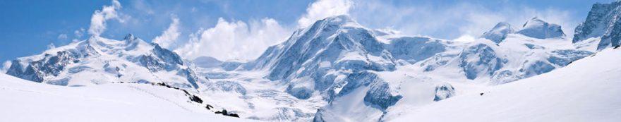 Изображение для стеклянного кухонного фартука, скинали: зима, снег, горы, fartux1652