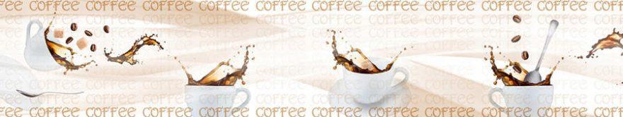 Изображение для стеклянного кухонного фартука, скинали: посуда, кофе, кружка, fartux1693