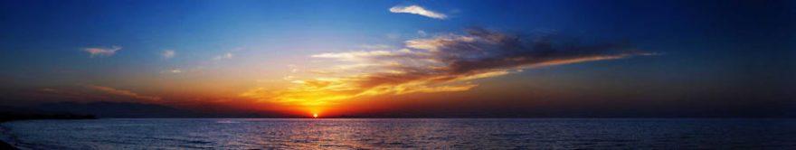 Изображение для стеклянного кухонного фартука, скинали: закат, море, fartux1718