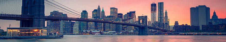 Изображение для стеклянного кухонного фартука, скинали: город, мост, небоскребы, fartux1721