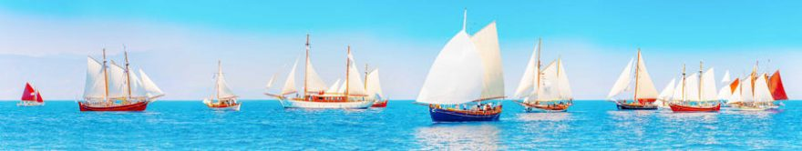 Изображение для стеклянного кухонного фартука, скинали: море, корабль, fartux1732
