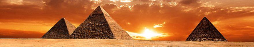 Изображение для стеклянного кухонного фартука, скинали: закат, египет, fartux1741