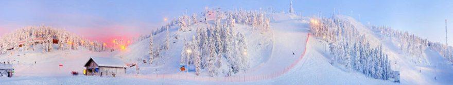 Изображение для стеклянного кухонного фартука, скинали: зима, снег, горы, fartux1743