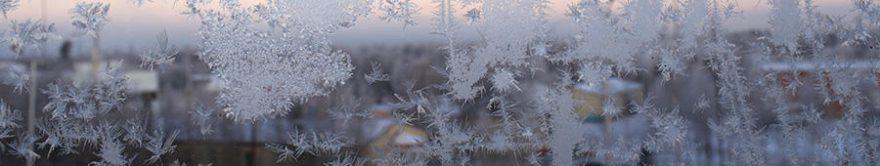 Изображение для стеклянного кухонного фартука, скинали: лед, стекло, fartux1751