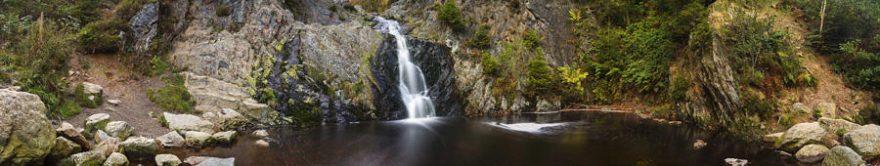 Изображение для стеклянного кухонного фартука, скинали: горы, водопад, fartux1755