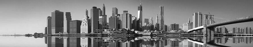 Изображение для стеклянного кухонного фартука, скинали: город, небоскребы, fartux1761