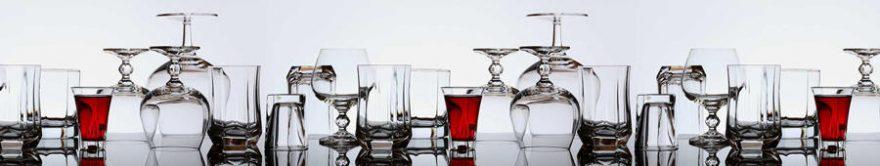 Изображение для стеклянного кухонного фартука, скинали: напитки, стаканы, бокал, fartux1762