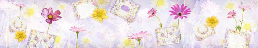 Изображение для стеклянного кухонного фартука, скинали: цветы, открытки, fartux1763