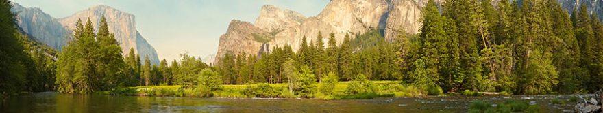 Изображение для стеклянного кухонного фартука, скинали: лес, горы, fartux1776