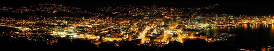 Изображение для стеклянного кухонного фартука, скинали: ночь, город, fartux1785