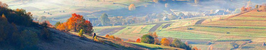 Изображение для стеклянного кухонного фартука, скинали: поле, природа, холм, fartux1786