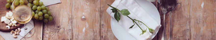 Изображение для стеклянного кухонного фартука, скинали: посуда, бокал, столовые приборы, fartux1791
