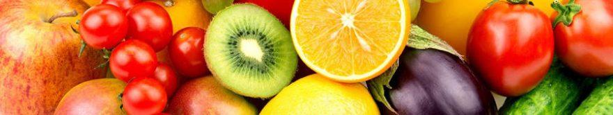 Изображение для стеклянного кухонного фартука, скинали: фрукты, овощи, fartux1802