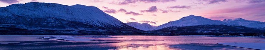 Изображение для стеклянного кухонного фартука, скинали: снег, горы, озеро, fartux1805