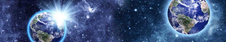 Изображение для стеклянного кухонного фартука, скинали: космос, планеты, fartux1807