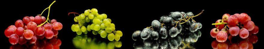 Изображение для стеклянного кухонного фартука, скинали: виноград, fartux1808