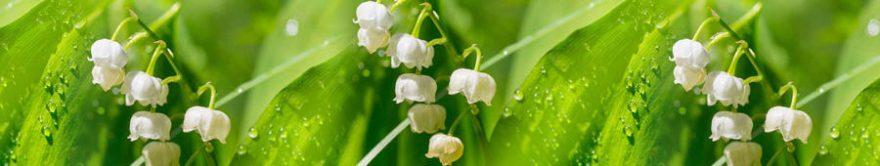 Изображение для стеклянного кухонного фартука, скинали: цветы, трава, fartux1810
