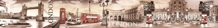 Изображение для стеклянного кухонного фартука, скинали: коллаж, город, архитектура, лондон, fartux1813