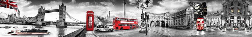 Изображение для стеклянного кухонного фартука, скинали: коллаж, город, архитектура, лондон, fartux1815
