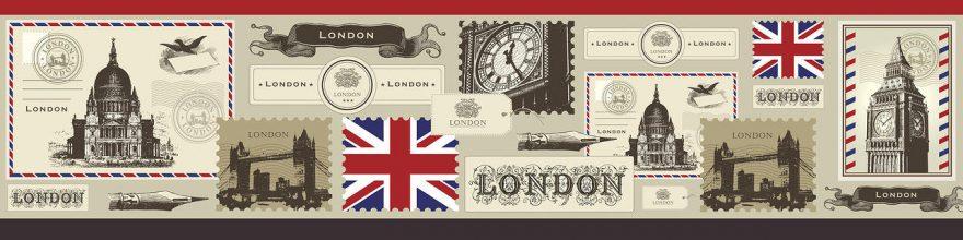 Изображение для стеклянного кухонного фартука, скинали: коллаж, лондон, fartux1825