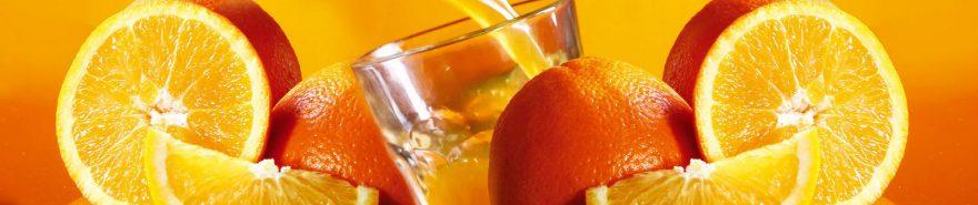 Изображение для стеклянного кухонного фартука, скинали: фрукты, апельсины, fartux1868