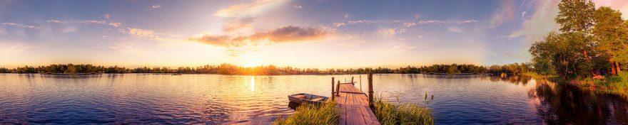 Изображение для стеклянного кухонного фартука, скинали: закат, природа, озеро, fartux545