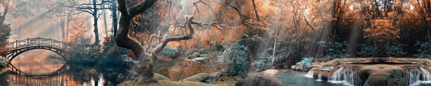 Изображение для стеклянного кухонного фартука, скинали: лес, fartux549