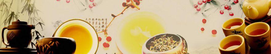 Изображение для стеклянного кухонного фартука, скинали: посуда, чай, кружка, чайники, fartux583