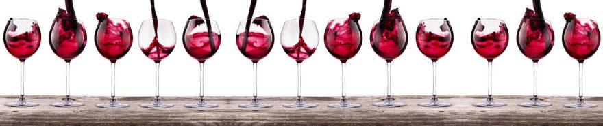 Изображение для стеклянного кухонного фартука, скинали: вино, бокал, fartux600