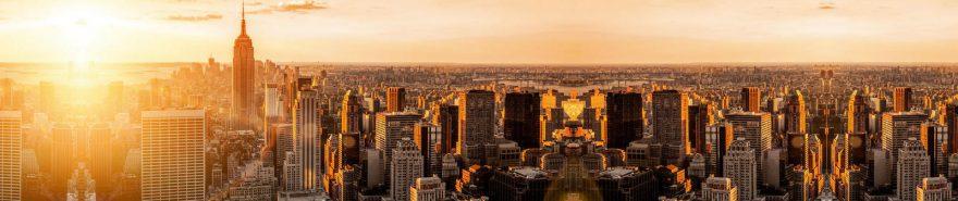Изображение для стеклянного кухонного фартука, скинали: город, небоскребы, fartux601