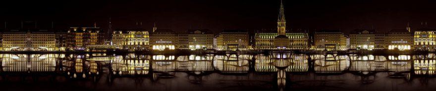 Изображение для стеклянного кухонного фартука, скинали: ночь, город, архитектура, fartux608