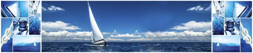 Изображение для стеклянного кухонного фартука, скинали: небо, коллаж, море, fartux611