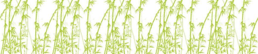 Изображение для стеклянного кухонного фартука, скинали: бамбук, fartux622