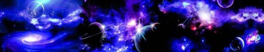 Изображение для стеклянного кухонного фартука, скинали: космос, планеты, fartux662