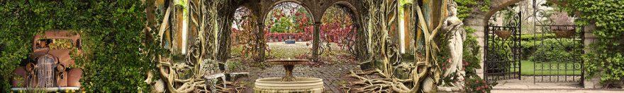 Изображение для стеклянного кухонного фартука, скинали: архитектура, статуя, парк, fartux673