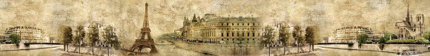 Изображение для стеклянного кухонного фартука, скинали: коллаж, город, архитектура, париж, fartux677