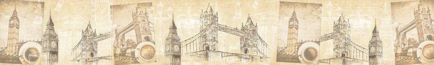 Изображение для стеклянного кухонного фартука, скинали: коллаж, город, архитектура, лондон, fartux681
