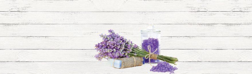 Изображение для стеклянного кухонного фартука, скинали: цветы, текстура, лаванда, fartux682