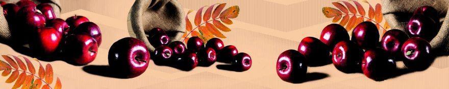 Изображение для стеклянного кухонного фартука, скинали: фрукты, яблоки, fartux690