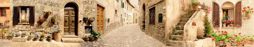 Изображение для стеклянного кухонного фартука, скинали: улица, италия, fartux705
