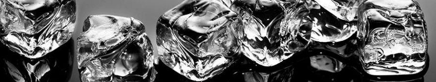 Изображение для стеклянного кухонного фартука, скинали: лед, fartux713