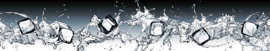 Изображение для стеклянного кухонного фартука, скинали: вода, лед, fartux724