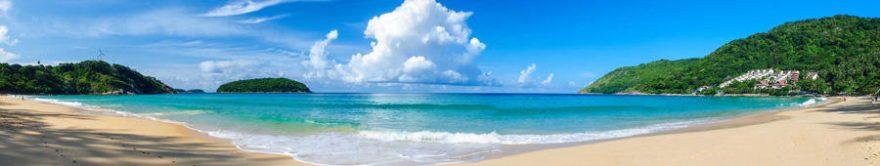 Изображение для стеклянного кухонного фартука, скинали: море, пляж, fartux725