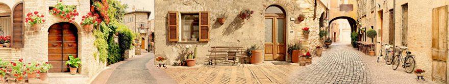 Изображение для стеклянного кухонного фартука, скинали: улица, италия, fartux733