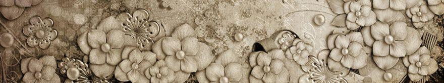 Изображение для стеклянного кухонного фартука, скинали: цветы, текстура, fartux738