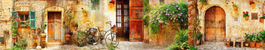 Изображение для стеклянного кухонного фартука, скинали: улица, италия, fartux750