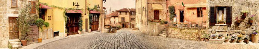 Изображение для стеклянного кухонного фартука, скинали: улица, италия, fartux766