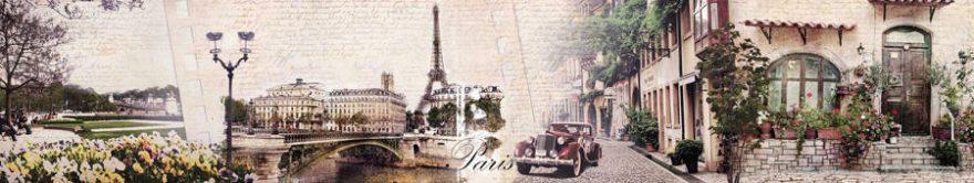 Изображение для стеклянного кухонного фартука, скинали: коллаж, город, архитектура, париж, fartux780